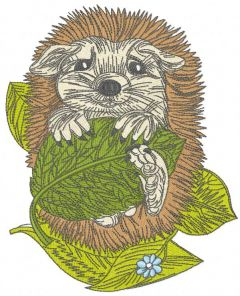 Hedgehog resting 2 embroidery design