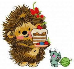 Hedgehog's birthday 3 embroidery design