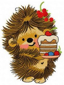 Hedgehog's birthday 4 embroidery design