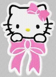 Hello Kitty Small Badge embroidery design