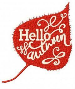Hello autumn 3 embroidery design