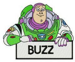 Hello I'm Buzz embroidery design
