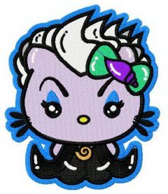 Hello Kitty as Ursula embroidery design