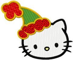 Hello Kitty Christmas Coming Soon embroidery design