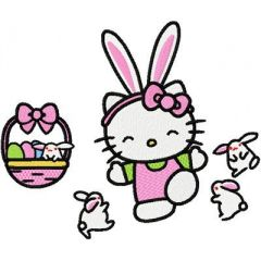 Hello Kitty Easter 2 embroidery design