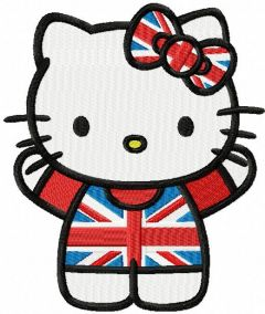 Hello Kitty Great Britain embroidery design