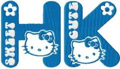 Hello Kitty Sweet Cute embroidery design