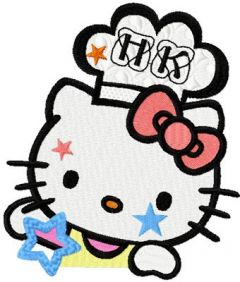 Hello Kitty Jolly Cook embroidery design