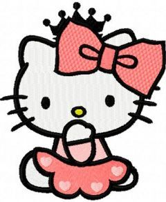 Hello Kitty Little Princess 1 embroidery design