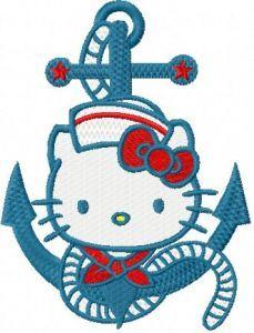 Hello Kitty Nautical embroidery design