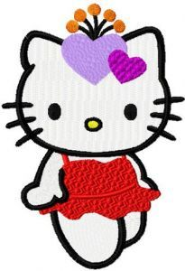 Hello Kitty Night Party embroidery design