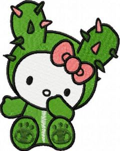 Hello Kitty Tokidoki 1 embroidery design