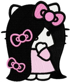 Hello Kitty Very Long Hair embroidery design