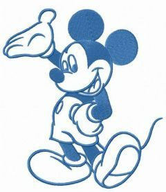 Hello my friends Mickey embroidery design