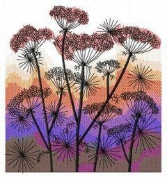 Heracleum embroidery design