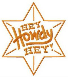 Hey Howdy Hey star embroidery design