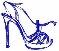 High heel shoe 5 embroidery design