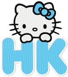HK New Hello Kitty Label embroidery design