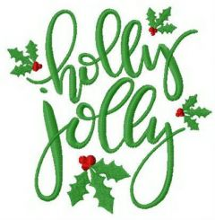 Holly Jolly 2 embroidery design