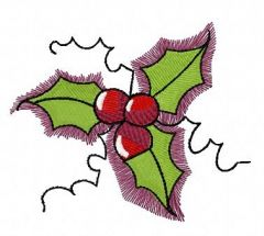 Holly free embroidery design