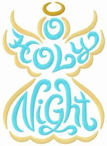 Holly Night embroidery design