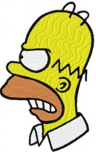Homer Simpson 5 embroidery design