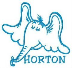Horton's muzzle embroidery design