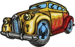 Hot Rod Doesn't Stop embroidery design