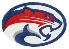 Houston Cougars secondary logo embroidery design