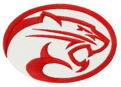 Houston Cougars secondary logo simple embroidery design