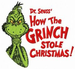 How the Grinch stole Christmas embroidery design