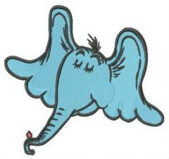 Horton the Elephant embroidery design