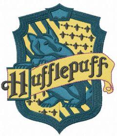Hufflepuff emblem embroidery design