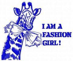 I am a fashion girl 2 embroidery design