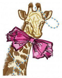 I am a fashion girl 4 embroidery design