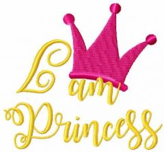 I am princess embroidery design