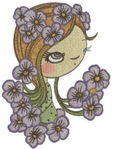 I like pansies embroidery design
