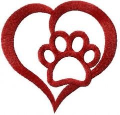 I love animals embroidery design