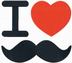 I love mustache embroidery design