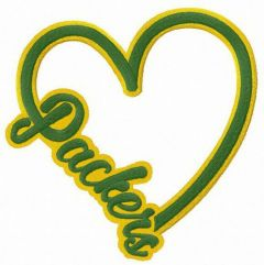 I love Packers embroidery design