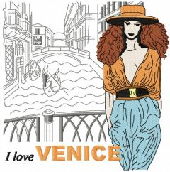 I love Venice embroidery design