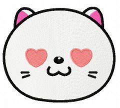 I love you kitten embroidery design 3