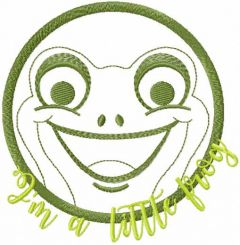 I'm a little frog embroidery design