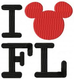 I Mickey Florida embroidery design