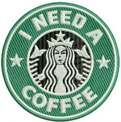 I need a coffee embroidery design