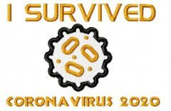 I survived coronavirus 2020 free embroidery design