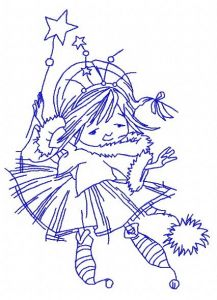 I'm Christmas fairy embroidery design 4