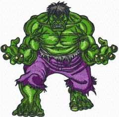 Incredible Hulk embroidery design