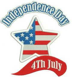 Independence day 2 embroidery design