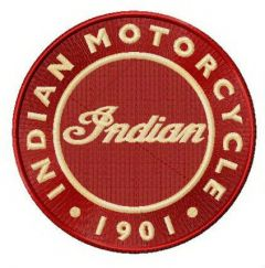 Indian Motocycle round logo embroidery design
